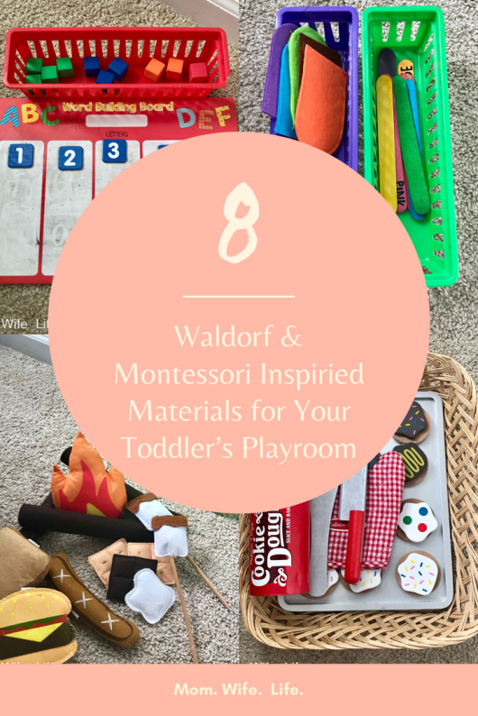 Mom. Wife. Life. shares 8 toys and materials that she includes in her triplets' Montessori & Waldorf-inspired playroom this week. | #montessori #waldorf #playroom #toddlers #triplets